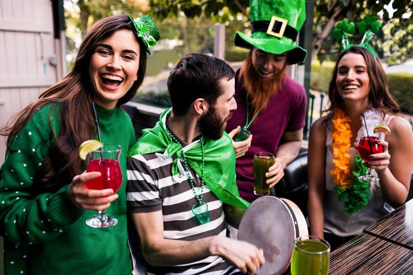 People celebrating St Patricks Day