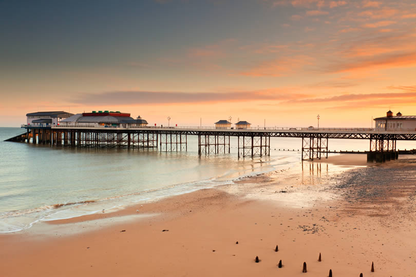 Cromer Pier in Norfolk UK at sunrise