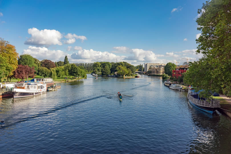 River Thames in Reading England