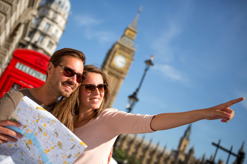 Tourists in London UK