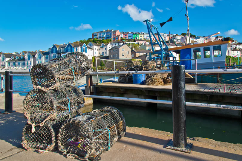 Aberdyfi fishing boat and pots