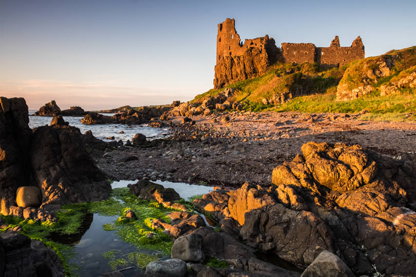 Dunure Castle in South Ayrshire