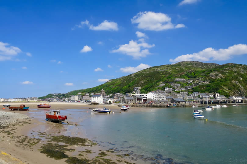 Barmouth Bay and town