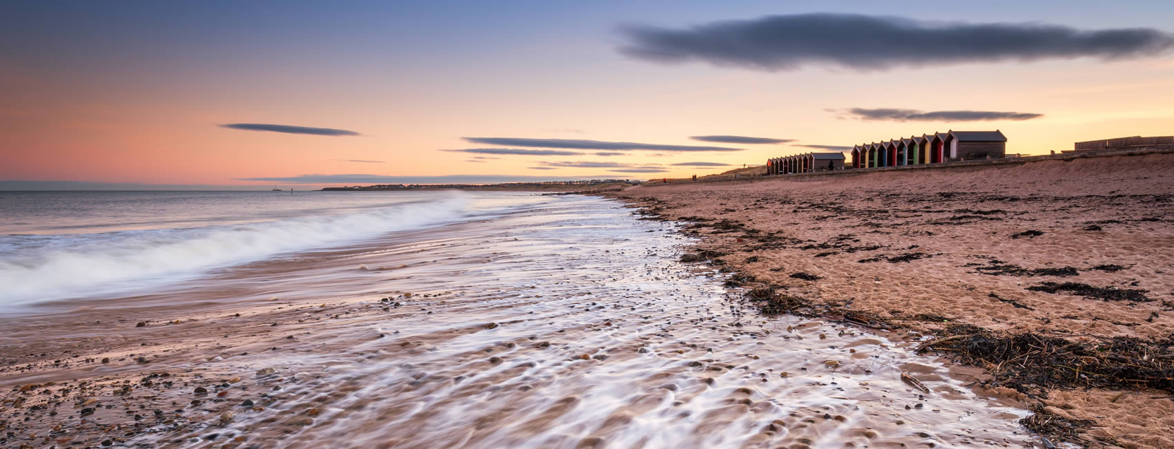 The seaside in the town of Blyth Northumberland