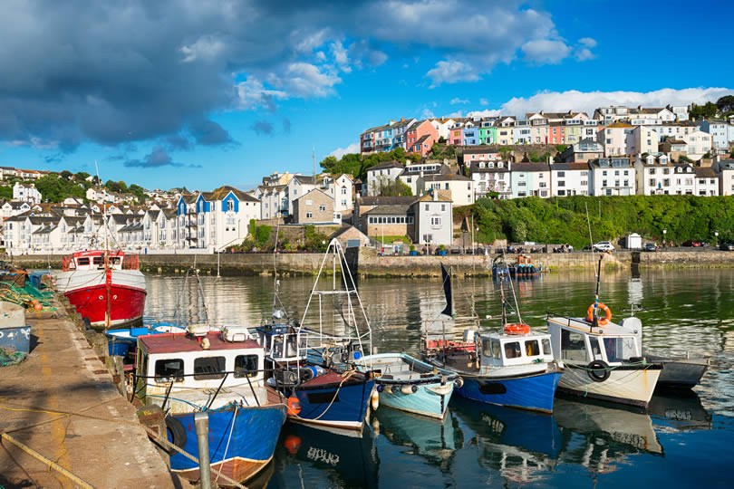 Brixham harbour and town centre