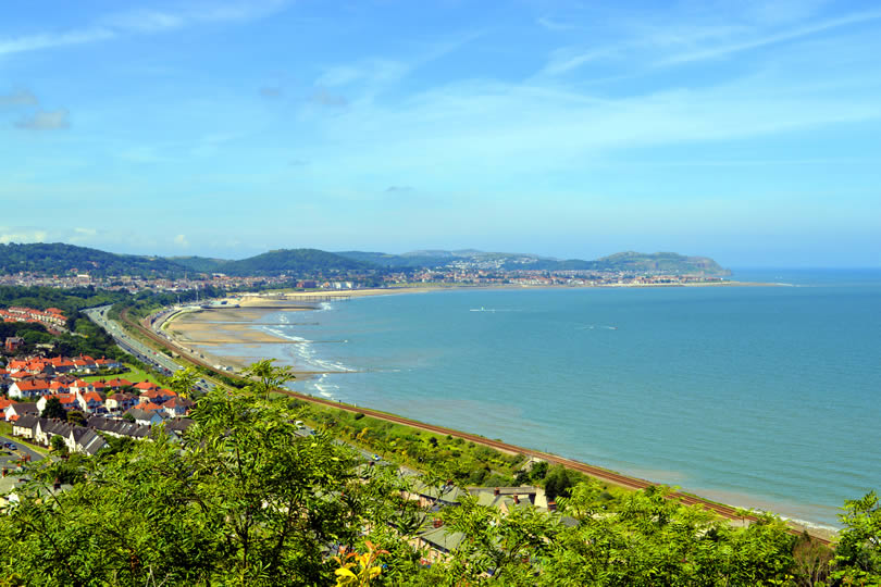 Colwyn Bay sea and coastline