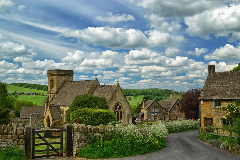 Traditional Cotswold Village in England