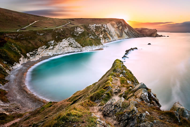 Durdle Door on the Jurassic Coast near Lulworth in Dorset England