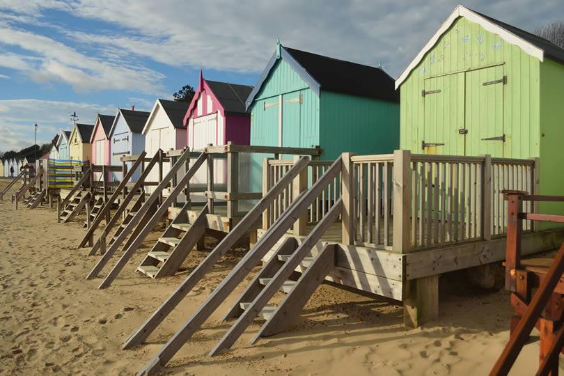 Felixstowe beach cabins