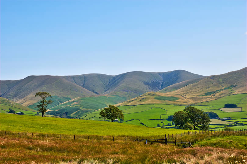 Howgill Fells landscape in Northern England