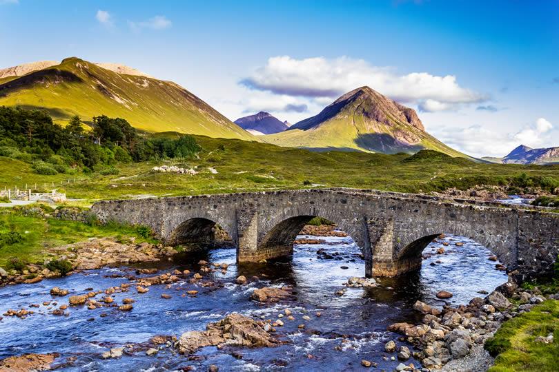 Sligachan river on the Isle of Skye Scotland