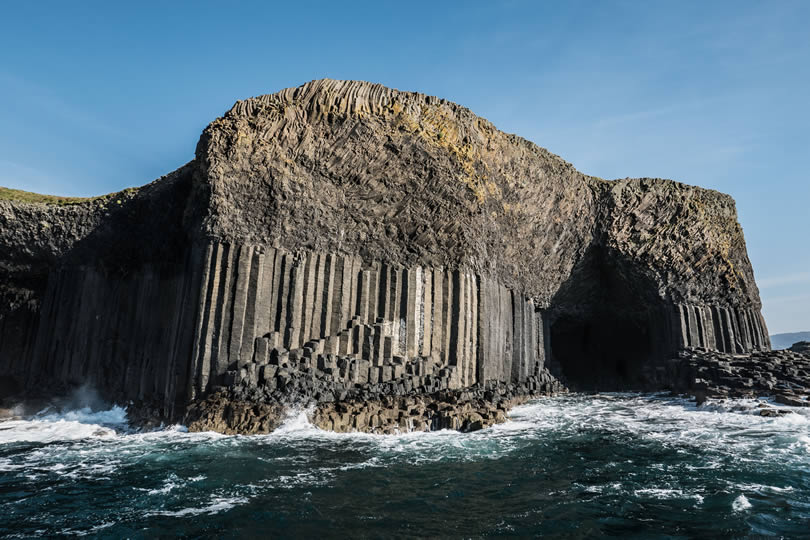 Isle of Staffa island in the Inner Hebrides in Argyll and Bute