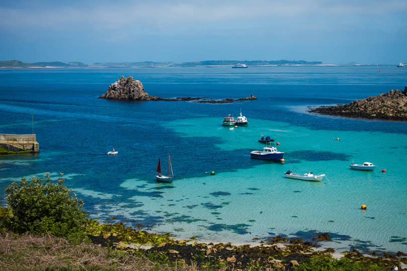 Isles of Scilly archipelago off the Cornish coast in southwest England