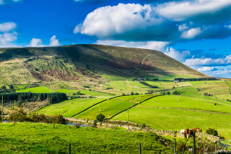 Forest of Bowland in Lancashire England