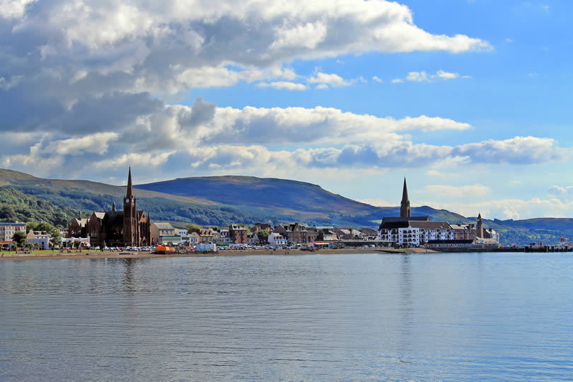 Largs seaside town in Ayrshire Scotland