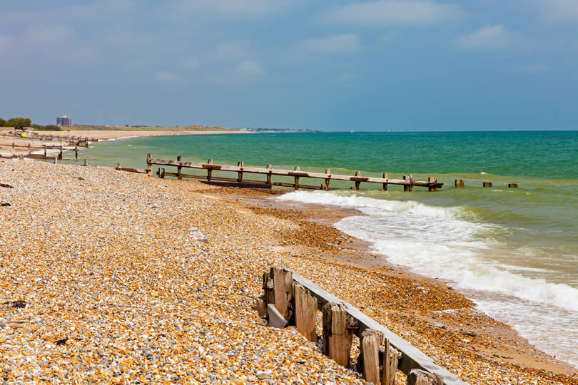 Littlehampton sand and shingle beach