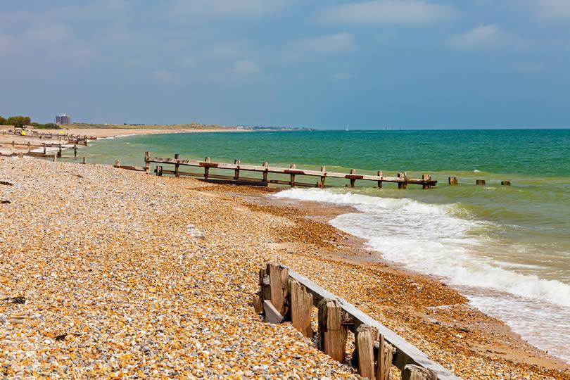 Littlehampton sand and shingle beach