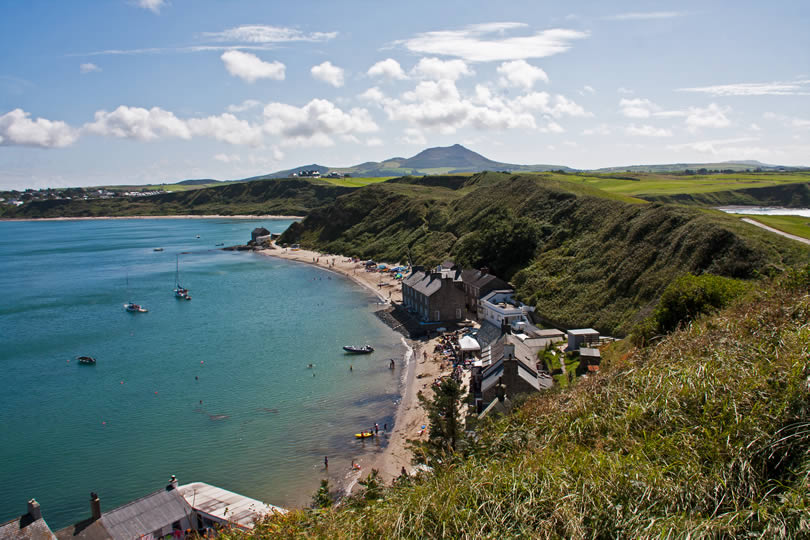 Coast at Porth Dinllaen Llyn Peninsula in North Wales UK