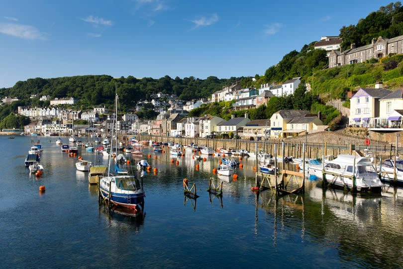 Looe fishing harbour and village