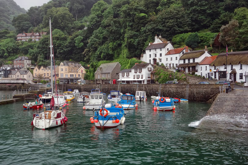 Lynmouth in Devon England