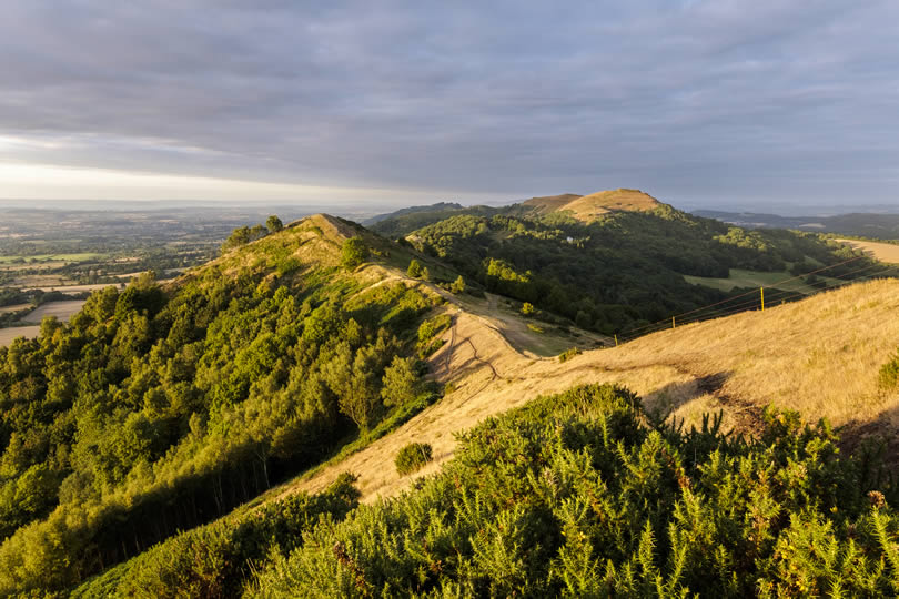 Malvern Hills in the West Midlands region of England