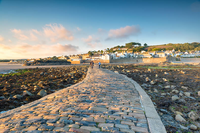 Marazion causeway from St Michaels Mount