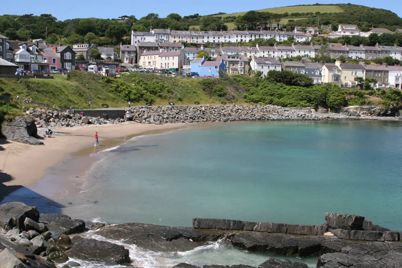 Seaside in New Quay Wales