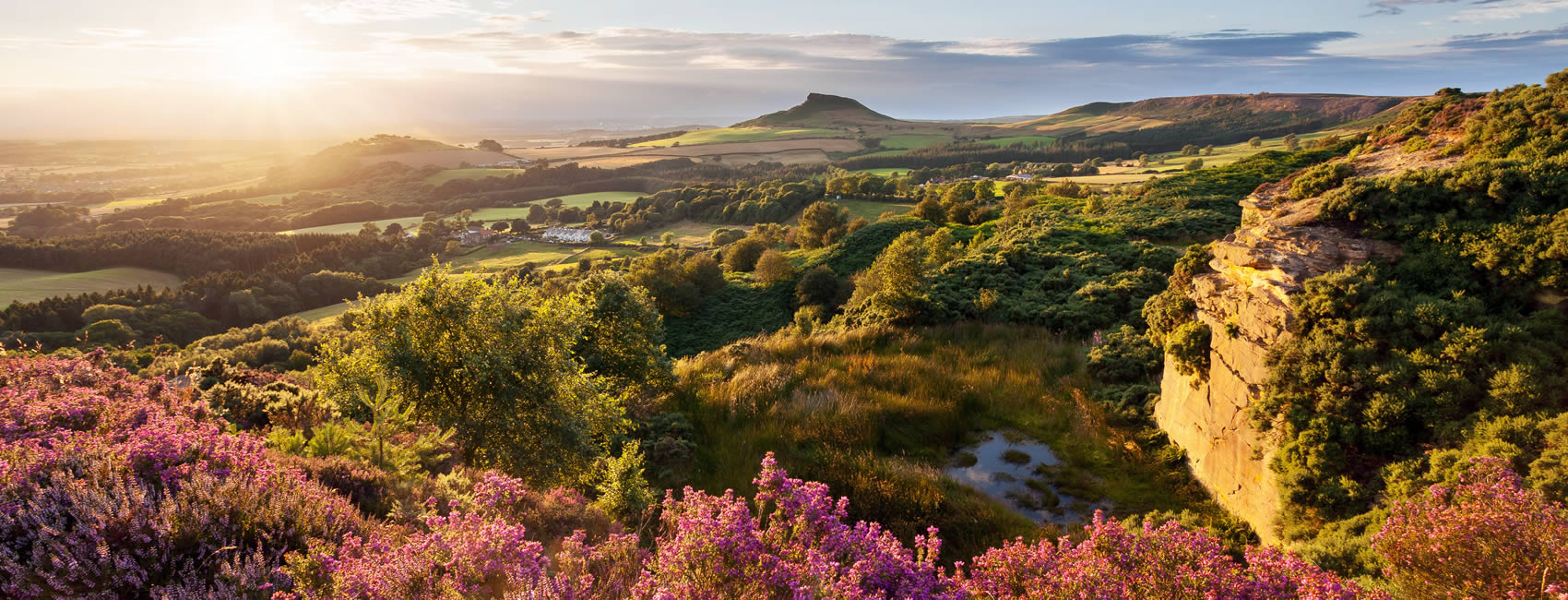 North York Moors national park in England