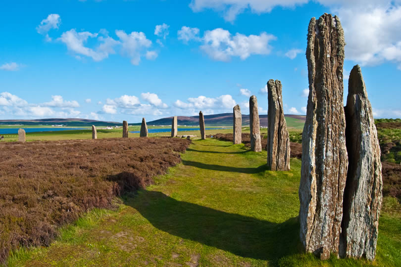 Ring of Brodgar on the Orkney Islands