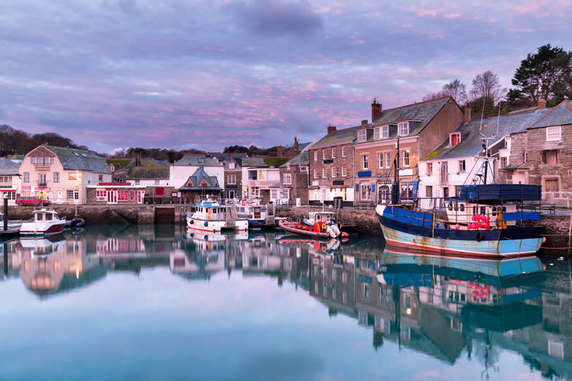 Padstow village evening view