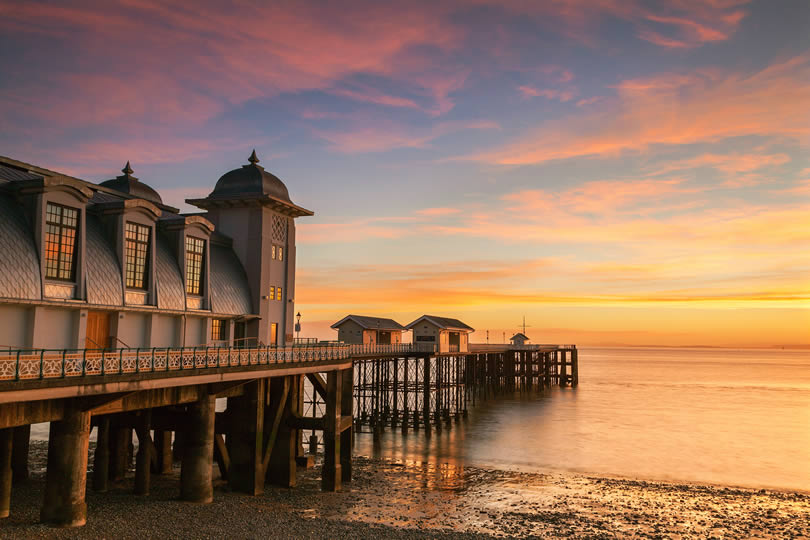 Penarth Pier at sunset