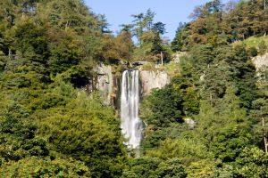 Pistyll Rhaeadr waterfall nearby Llanrhaeadr-ym-Mochnant in Powys