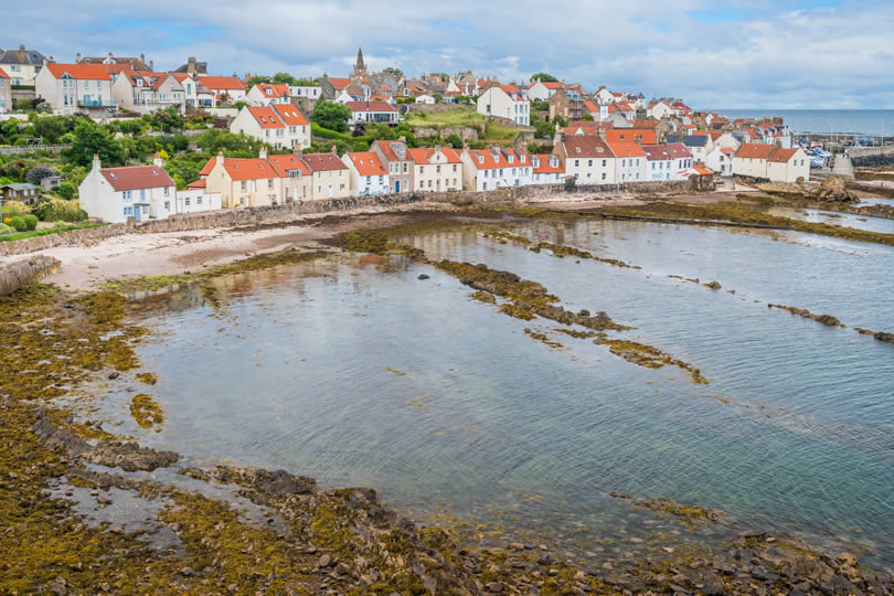 Coastal village of Pittenweem in Fife
