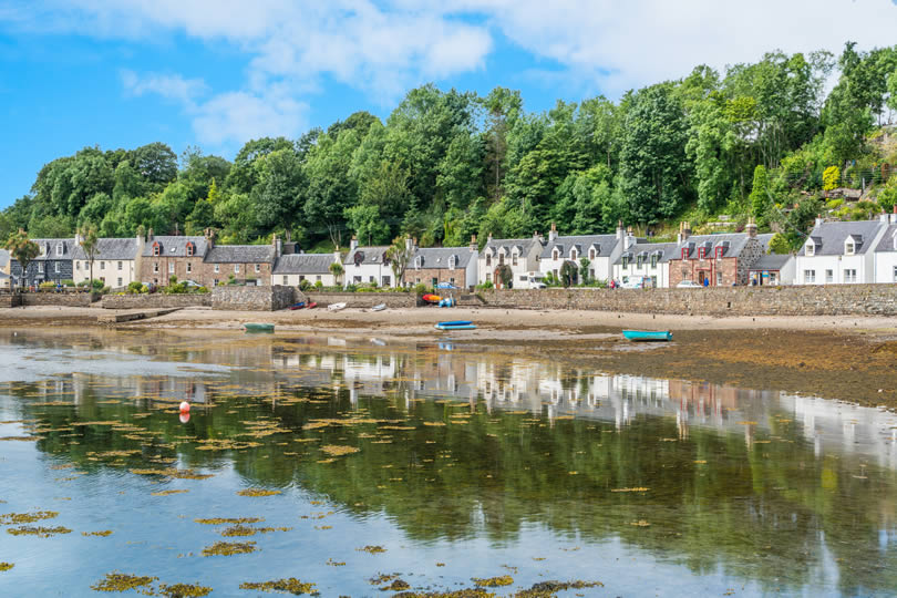 Plockton village in the Scottish Highlands
