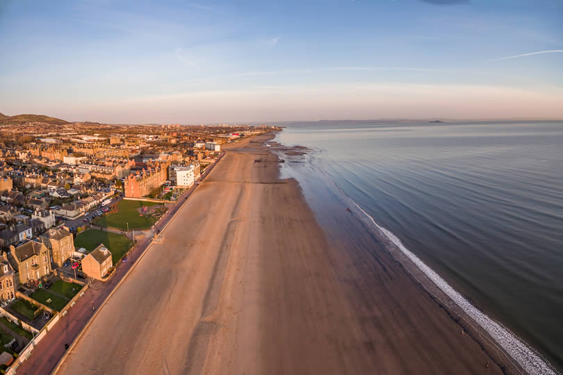 Portobello beach of Edinburgh City