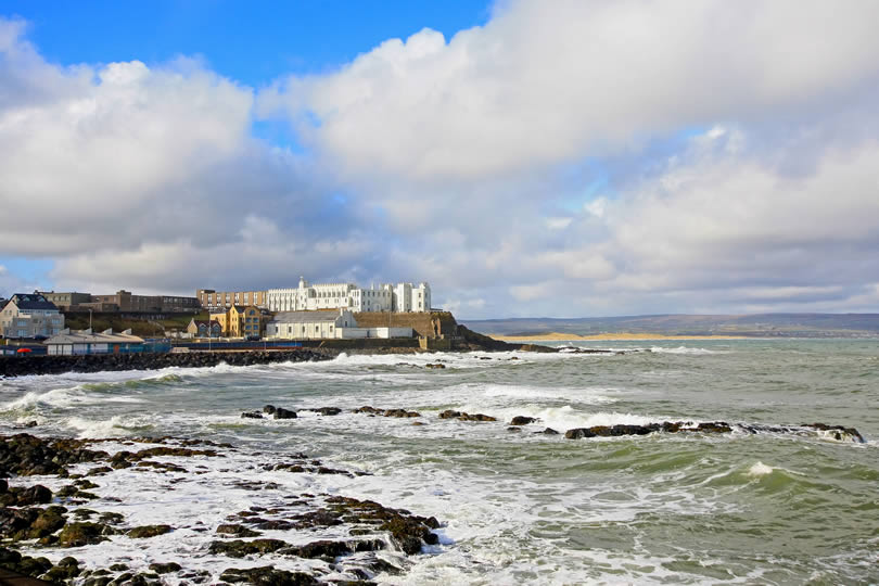 The village of Portstewart in Northern Ireland