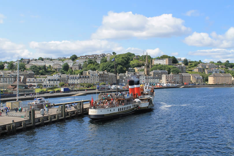 Rothesay harbour on Isle of Bute