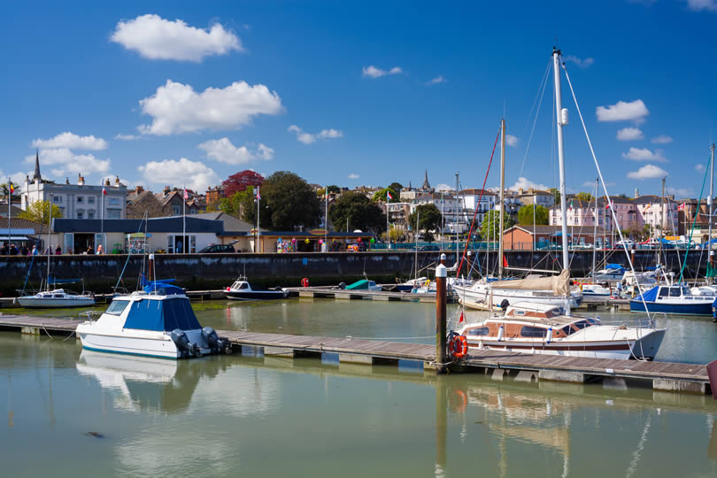 Ryde marina and fishing harbour