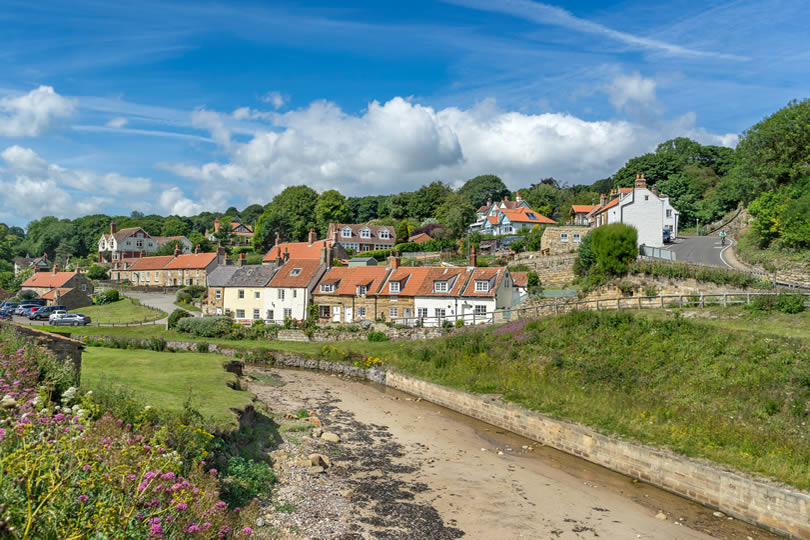 Village of Sandsend in North Yorkshire