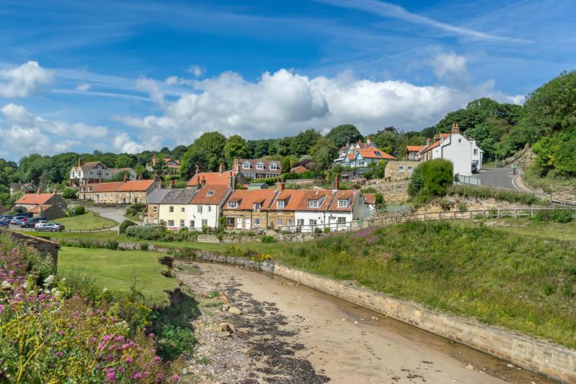 Village of Sandsend in North Yorkshire