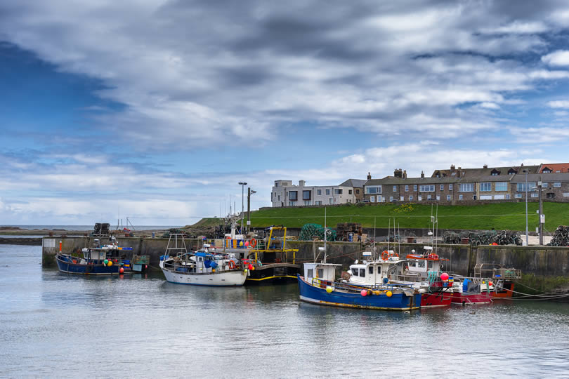 Seahouses fishing harbour