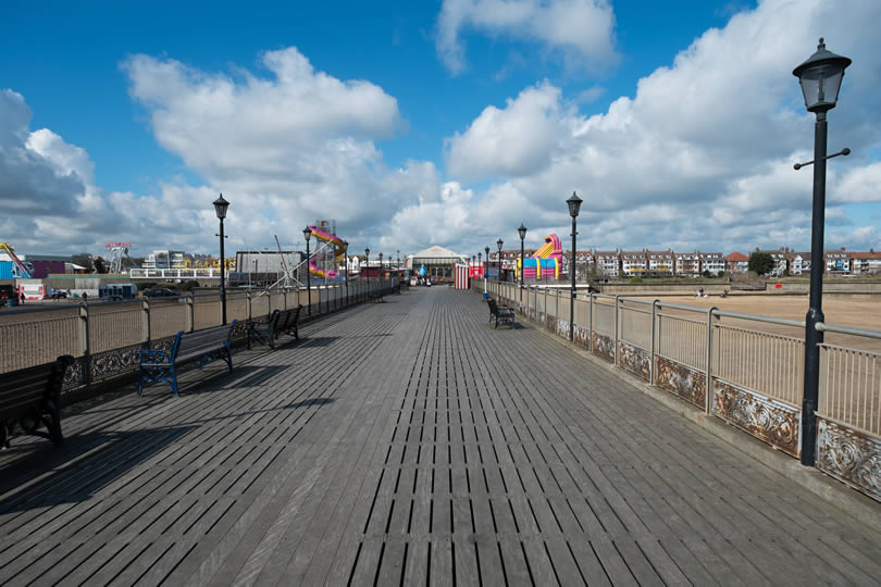 Skegness Pier in Lincolnshire England