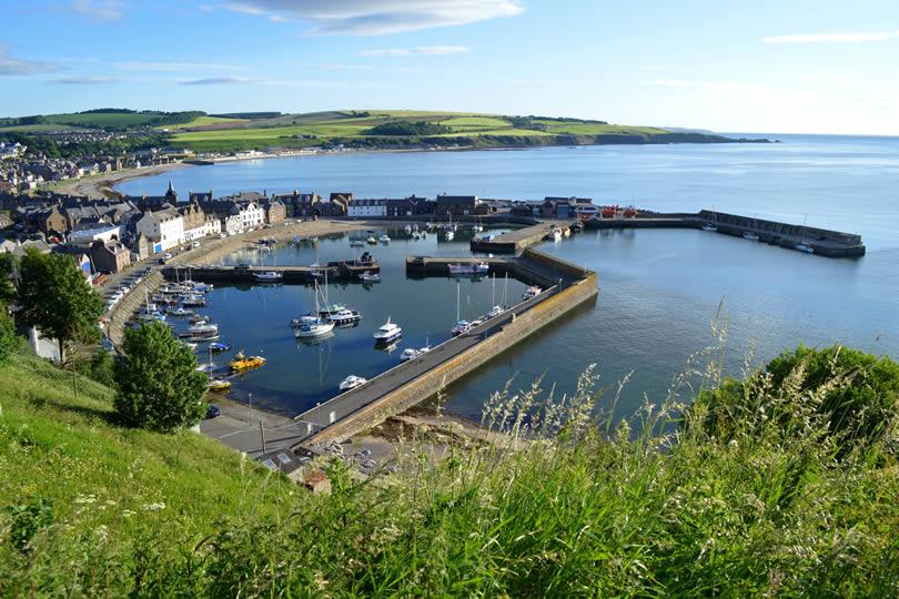 Stonehaven harbour in Scotland