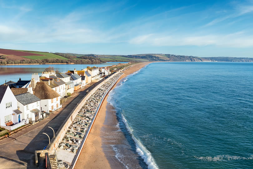Slapton Sands near Torcross on the south coast of Devon