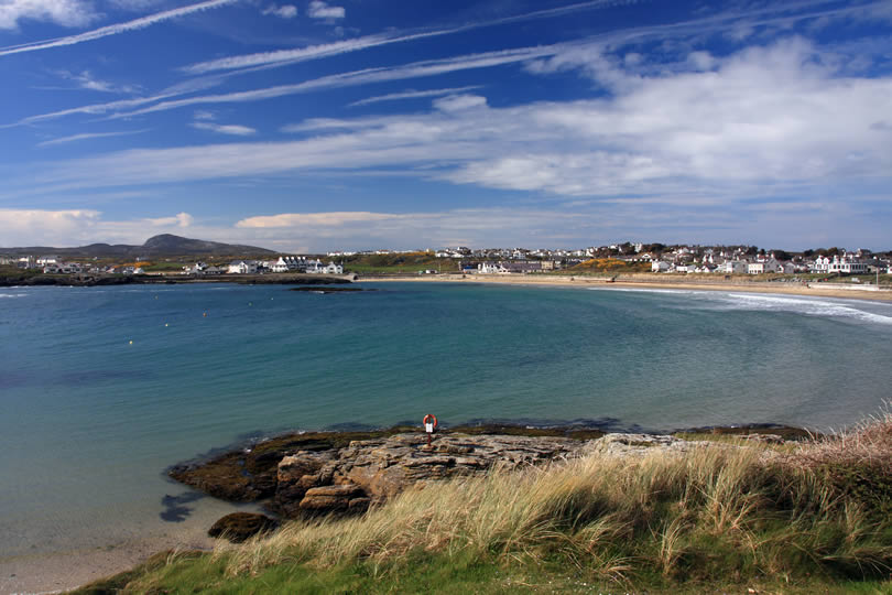 Trearddur Bay on the Isle of Anglesey North Wales
