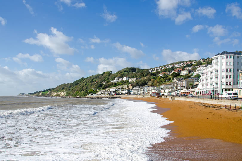 Ventnor beach and seafront