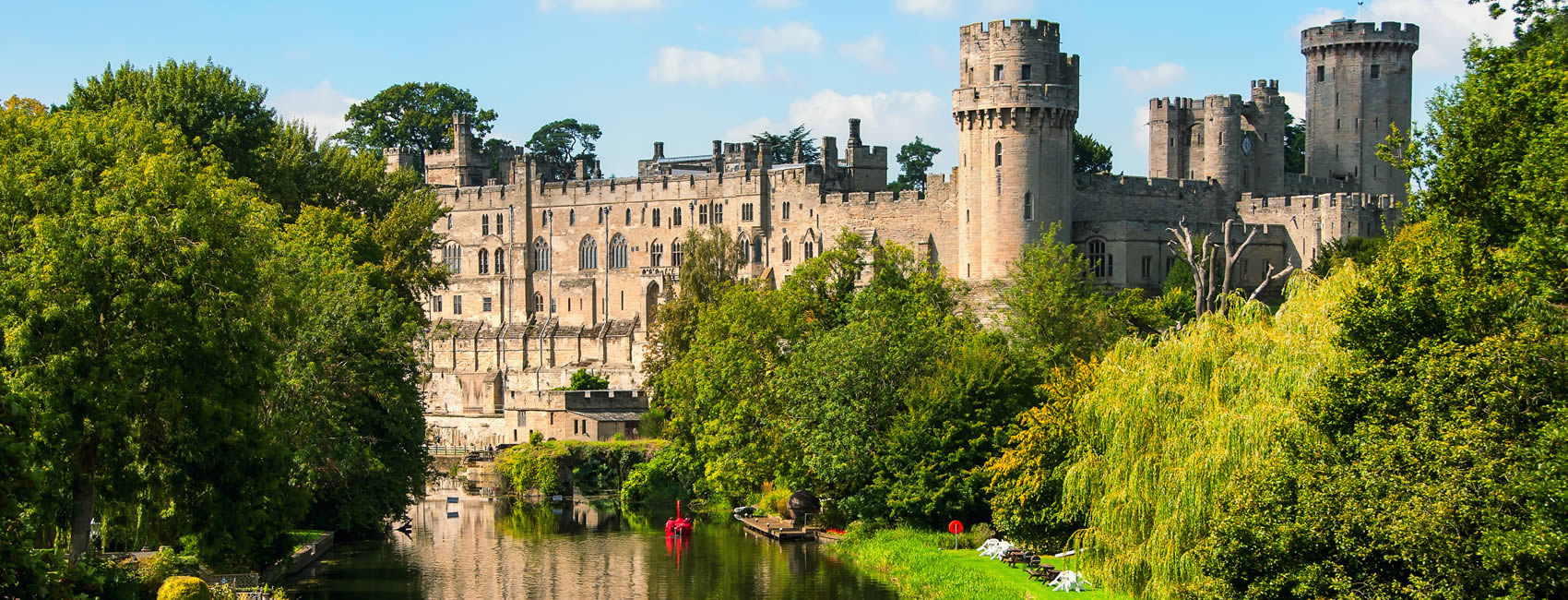 Warwick Castle in West Midlands region