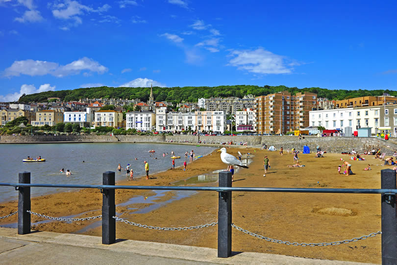 Sandy beach at Weston super Mare