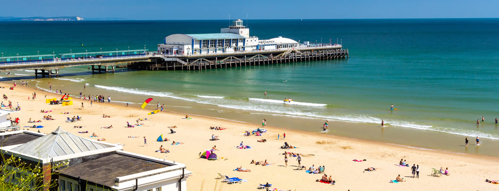 The pier and beach in Bournemouth Dorset