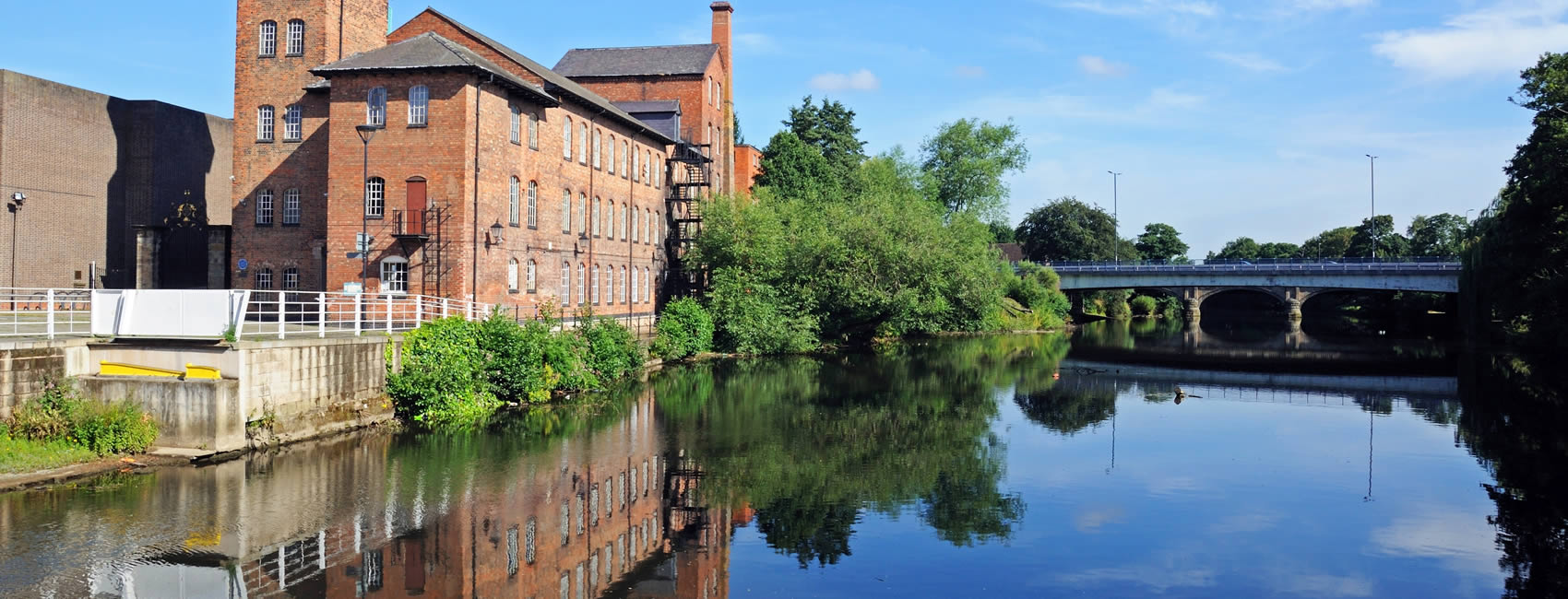 A Silk Mill alongside the River Derwent in Derby